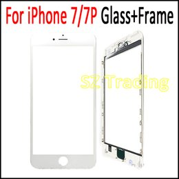 iphone bezel Australia - Pre-Assembled Front Outer Glass Lens with Middle Frame Bezel Assembly for iPhone 7 4.7 7 Plus 5.5 DHL Free Shipping