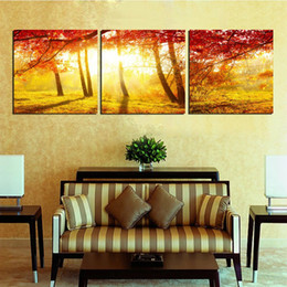 $enCountryForm.capitalKeyWord Australia - Wall home decoration Unframed 3 Pieces Canvas Prints woods rose wedding ring tree Forest path ferris wheel dove house Cartoon flower