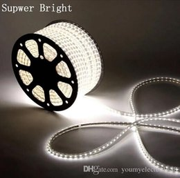 Wholesale Hot M LEDs SMD V Waterproof IP67 Warm Cool White LED Strip Lights with Power Cord Plug Mounting Clips