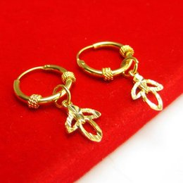 $enCountryForm.capitalKeyWord Canada - For a long time does not fade gold earrings earrings gold gold ear 999 female buckle ear ring young new gift