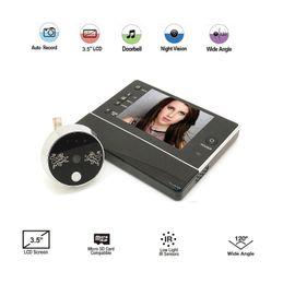 $enCountryForm.capitalKeyWord Australia - Video-Eye Peephole 3.5inch LCD 0.3Megapixels Camera 3X Zoom IR night vision 32 Rings support Video+Photos Multi-language video-eye