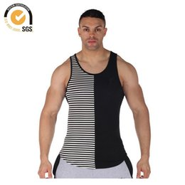 ca0791659ecb8 Gym Stringers Canada - Wholesale-0926 Brand Long Tank Tops Men Extended Gym  Vest Stripe