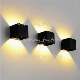 Adjustable Dimmable Down Light NZ - 8W Dimmable COB IP65 cube adjustable surface mounted outdoor LED lightig,LED indoor wall light, up down LED wall lamp