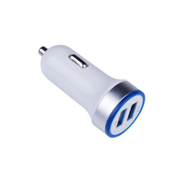 alloys chinese UK - CE certification double USB car charger 5V 3.1A quick double mouth car charger ROHS FCC certification aluminum alloy aperture car charger