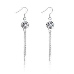 $enCountryForm.capitalKeyWord UK - Women Beautiful Tassel Long Earring 100% Real 925 Sterling Silver Dangle Earrings Bohemian Style Ball Charms Elegant Women Fine Jewelry Gift