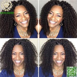 Kinky Curly Human Hair Afro Wigs Australia - Brazilian Hair Afro Kinky Curly Wig Glueless Full Lace Human Hair Wigs For Black Women 6A Human Hair Lace Front Wig