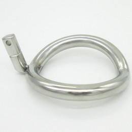 Chastity Ring Sizes Canada - Chastity Device Ring NEW Super Small Stainless Steel Male Chastity Device Cock Cages Additional Ring Cock Ring Size Choose Adult Sex Toys