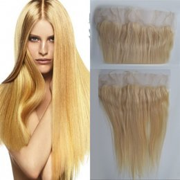 $enCountryForm.capitalKeyWord NZ - Indian Human Hair Straight Lace Frontal 613 Blonde New Arrival Virgin Hair 13*4 Lace Frontal FDSHINE HAIR
