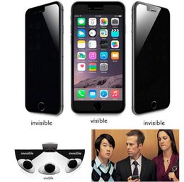 $enCountryForm.capitalKeyWord Australia - Privacy Tempered Glass for iphone 6 iphone 6 plus Screen Protector Anti-Spy Shield Premium Protective Guard Film