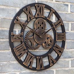 e18edc74f92 Oversized grande decorativo do vintage retro art engrenagens de luxo relógio  de parede criativa moda relógio de parede frete grátis