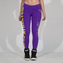 Skeleton Yoga Pants Canada - Wholesale-S-4XL 5 Color Europe Large Sports Fashion Letter Skeleton Sided Printing Hip Movement Leggings Yoga Running Tight Pants