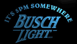 busch neon lights 2019 - LS740-b-It-s-5-pm-Somewhere-Busch-Beer-Neon-Light-Sign.jpg Decor Free Shipping Dropshipping Wholesale 8 colors to choose