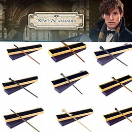 harry voldemort wands NZ - NEW Harry Potter Magic Wands with Metal Stick Inside Magic Wand Hermione Voldemort Magic Wands Halloween Cosplay wand KKA2908