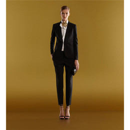 $enCountryForm.capitalKeyWord Canada - Summer Women 2 Pieces Sets Womens Business Suits Black Slim Pants Suit Formal OL Business Work Long Sleeve Trouser Tuxedo