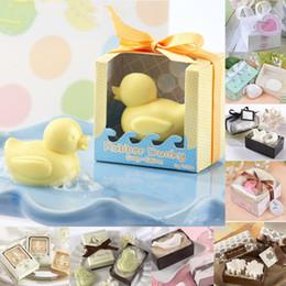Gift Shaped Soap Canada - Creative Little Duck Soap Shape Organic Fall Love Wedding Favors Creative Gifts Mini Bath Soap Cleansing Soap Gift Set