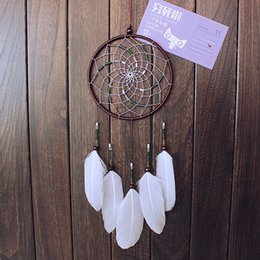 $enCountryForm.capitalKeyWord Canada - New Arrive Vintage Enchanted Forest Dreamcatcher Handmade Dream Catcher Net With Feathers Decoration Ornament Diameter 16cm