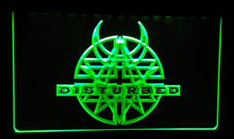 Roll Lights Canada - LS159-r Disturbed Rock n Roll Bar Pub Neon Light Sign Decor Free Shipping Dropshipping Wholesale 8 colors to choose