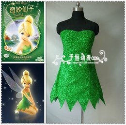 Peter Pan Cosplay Pas Cher-Gros-sur mesure Tinkerbell Costume Tinker bell Robe <b>Peter Pan Cosplay</b> Costume