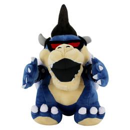 Chinese  1pcs 29cm Super Mario Bros Blue Koopa Bowser Stuffed Plush Toys Cartoon Dry Bones Kuba dragon Plush Dolls manufacturers