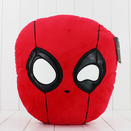 Discount foam figures kids New Movie Deadpool Pillow Plush Soft Stuffed Doll Toy for kids gift PP Cotton 35cm free shipping EMS