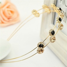 pearl bow headband Canada - New Hair Jewelry Diamond Bow Korean Small Jewelry Pearl Hairpin Hair Hoop Headband Women Hairband Many Style