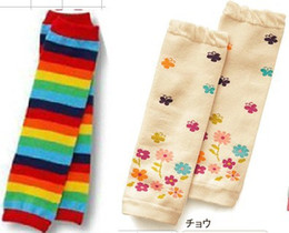 $enCountryForm.capitalKeyWord NZ - 2 pairs lot, Rainbow Strips + floral Baby Leg Warmers Baby Socks Brand Kids Leg Warmers Children Knee Warmers