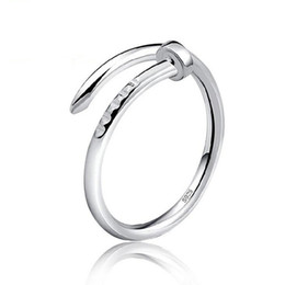 hottest girls ring finger 2019 - Rings Jewelry Silver Band Ring Hot Sale Crystal Finger Rings For Women Girl Party Gift Open Size Fashion Jewelry Free Sh