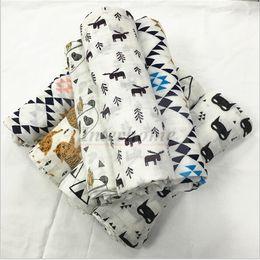 $enCountryForm.capitalKeyWord Canada - Baby Muslin Swaddles Ins Wraps Ins Blankets Nursery Bedding Newborn Organic Cotton Ins Swadding Bath Towels Parisarc Quilt Robes B657 50