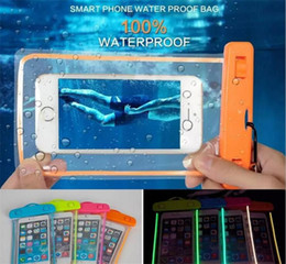 Waterproof Cellphone Case Universal NZ - Outdoor PVC Delight plastic dry case For iPhone 5S 6 7 8 Plus X Samusng S8 sport cellphone protection Lumious universal waterproof bag Pouch