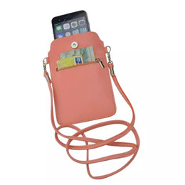 China New 7 colors Leather Small Shoulder Crossbody Pouch for iPhone6 6s Plus 5.5inch for Multi Phone Model Holster Case Cover XCT44 suppliers