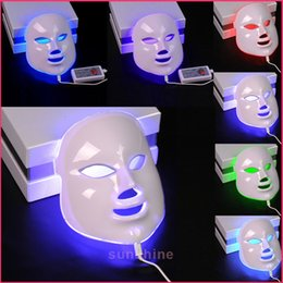 Oily Face Mask NZ - hot selling PDT 7 Color LED Facial Mask light photon therapy Photon LED skin rejuvenation beauty facial machine