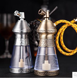 Creative Hookah pot bronze metal water pipe, color, style random delivery, Water pipes, glass bongs, glass Hookahs, smoking pipe on Sale