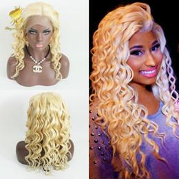 Half Lace Wig Brazilian Hair Australia - Best Quality Blonde Full Lace Wigs Brazilian Deep Wave Full Lace Wig Human Hair 613# Blonde Lace Front Wigs For Women