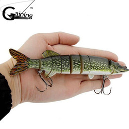 "high quality lure hooks Australia - High Quality New Design Fishing Lure 20cm 8""-65g Hook Multi Jointed Baits 8 Sections Hard Bait Fishing Accessory with Treble Hook"