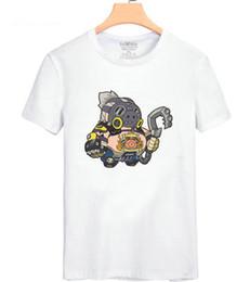 f591bbe59 Roadhog T shirt Road hog Mako rutledge short sleeve gown Game role pig tees  Leisure unisex clothing Quality cotton Tshirt