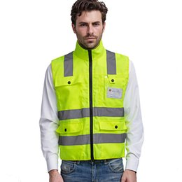 reflective safety vests motorcycle 2019 - Motorcycle Reflective vests 360 Degrees High Visibility Neon Safety Vest Belt Safety Vest Fit For Running Cycling Sports