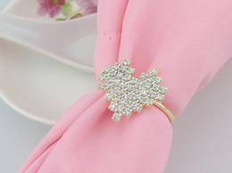 $enCountryForm.capitalKeyWord Canada - New Rhinestones love heart gold Napkin Rings for wedding dinner,showers,holidays,Table Decoration Accessories wn275