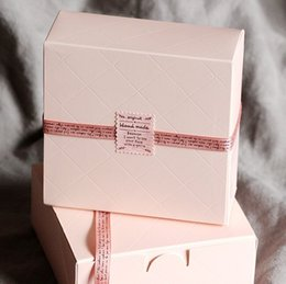 Cupcake Bakeries Australia - Wholesale- Free Shipping Pink Cake Box Party Cupcake Gift Bakery Maccaron Pastry Cookies Packaging Paper Boxes