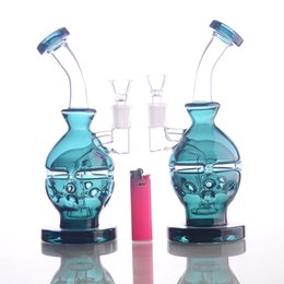 China New Teal Color Glass bong fab egg Bongs original Faberge Egg Water pipe recycler bongs oil rig dabs glass suppliers
