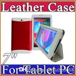 "$enCountryForm.capitalKeyWord Canada - cheapest colorful 7"" flip leather case for 7 inch 3G MTK6572 phone tablet pc E-PT"
