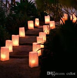 Sun Ray Burst Candle White Paper Bag Lantern Outside Pathy Decoration  Luminara Good Quality Brand New Free Shipping