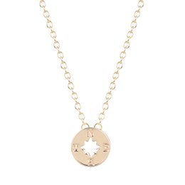 Chinese  10pcs lot Trend Compass Charm Necklace Friendship Pendant Best Friend Graduation Gift for Women Wholesale Jewelry New Arrival manufacturers