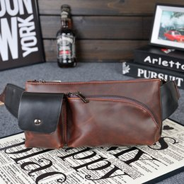 coolest mens wallets NZ - Vintage Men Waist Pack Casual Genuine Leather Waist Packs for Men Cool Packs Leather Cycling Bags Mens Shoulder Bags Wallets Belt Purse