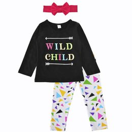 Chinese  Fashion Europe Geometric Print Girls Clothing Set Stella Boutique Clothes Spring Autumn Long Sleeve Girls Top Pants Outfit Hot Sales manufacturers