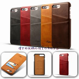 Luxury Credit Card Iphone Australia - For iphone 7 Luxury Fashion Retro Leather Case With Credit Card pokect Slots Cover Phone Funda Bags for iphone 7 plus