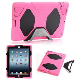 solid stand for ipad 2019 - Military Extreme Heavy Duty Waterproof Defender Case Cover For iPad Mini 1 2 3 4 Air1 Air2 56 Stand Holder Hybrid Shell