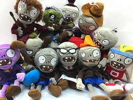Plants vs zombies zombie Plush online shopping - New styles cm inch Plants Vs Zombies Stuffed Soft Plush Toys game Doll kids Christmas gift EMS shipping E1288