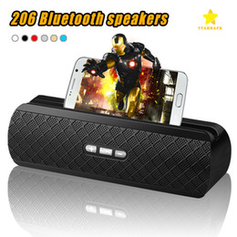 Iphone Stereo Player Australia - 206 Bluetooth Speaker Mini Portable Wireless Stereo Loudspeaker MP3 Speakers HandFree with HD Mic for iPhone Samsung Xiaomi with Package