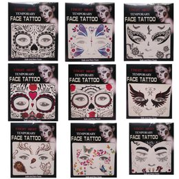 Wholesale Fright Night Temporary Face Tattoo Body Art Chain Transfer Tattoos Temporary Stickers in stock Styles
