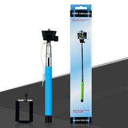 $enCountryForm.capitalKeyWord Canada - Z07-5S 100CM Extendable Handheld Selfie Stick With Remote Shutter Button 3.5mm Cable Wired selfie Monopod For Android IOS Phone